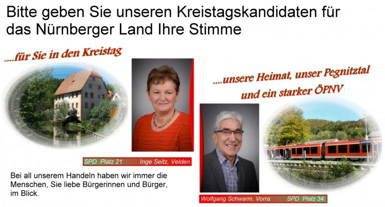 Kreistagswahl Flyer